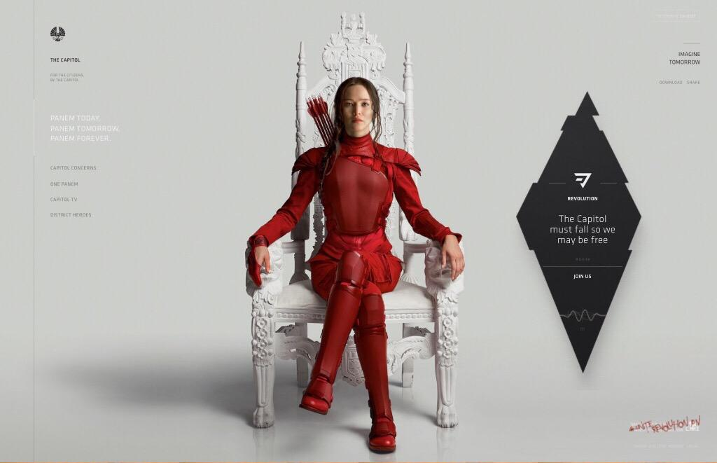 Katniss has taken over at thecapitol.pn! #Unite #MockingjayPart2 http://t.co/4wQG2455hH