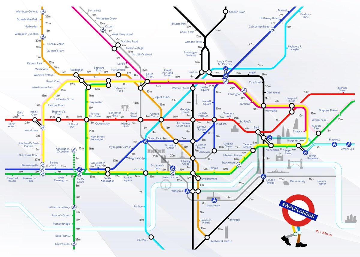 Here's how long it will take you to walk between Underground stops tonight: http://t.co/fKIbsG8yPc #TubeStrike http://t.co/49K4f0GK0j
