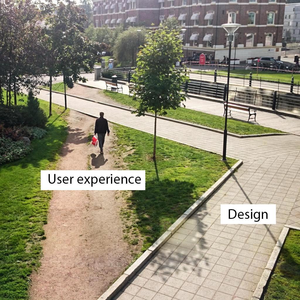 So true. Best description of User Experience vs. Design I've seen! http://t.co/XEtuAhnw6Y