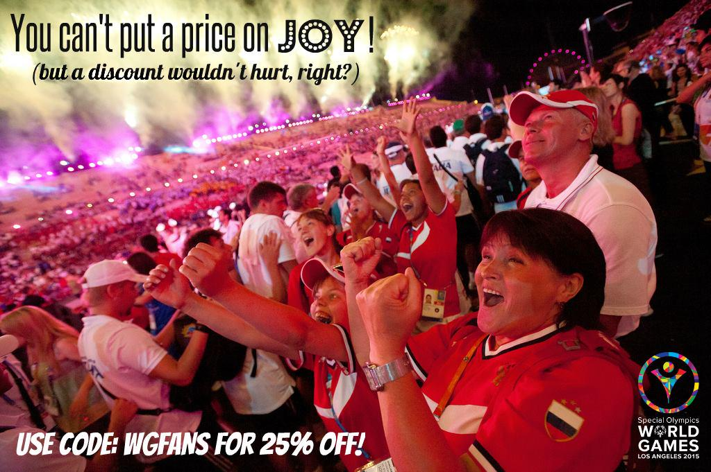 RT @LA2015: Witness ALL of the joy of Opening Ceremony for LESS! Get tix: http://t.co/zCNXeBj3Tm Enter code: WGFANS! #ReachUpLA http://t.co…