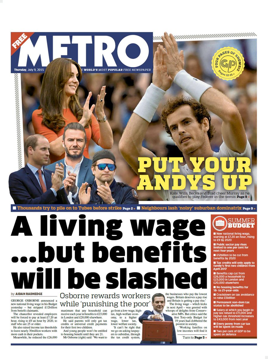 A living wage... but benefits will be slashed - The Metro