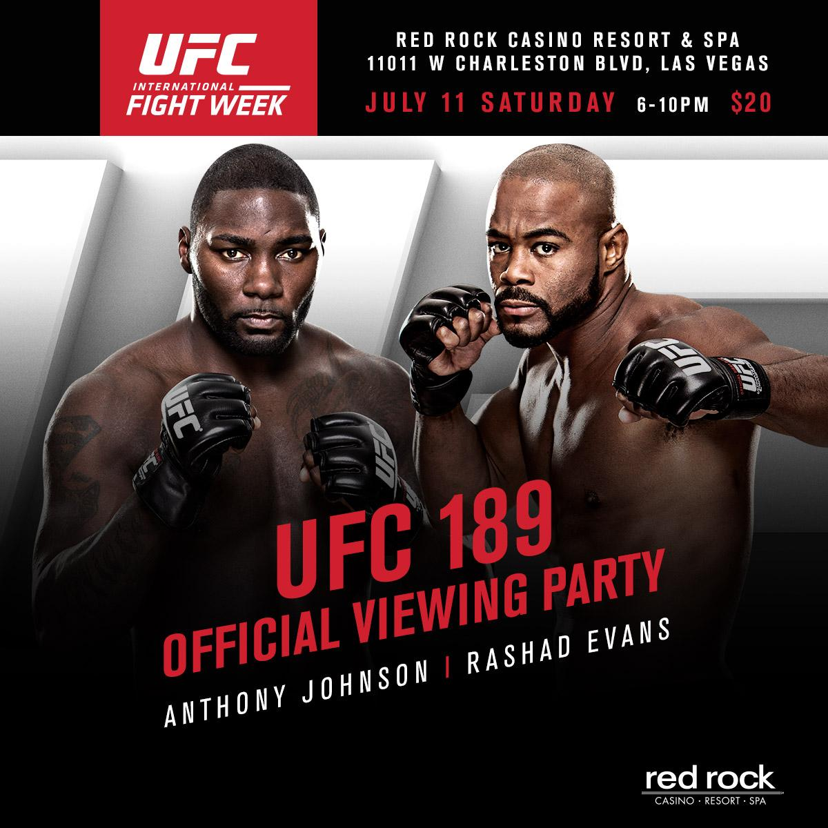 Join us this Saturday for our @ufc Viewing Party hosted by @Anthony_Rumble & @SugaRashadEvans! #UFCFIGHTWEEK http://t.co/pT79bn0g8h