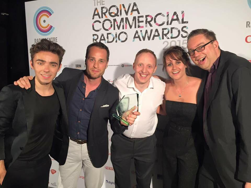 .@NathanSykes gave us our award! Missing you @jacktheladradio. Well done team @tomevansheart @Producer_Brian #arqivas http://t.co/vTJAKOJ5Rv