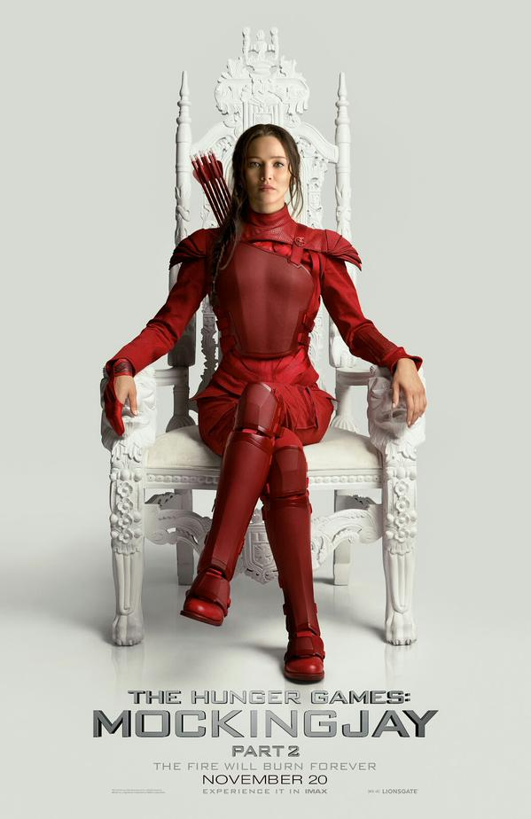 Jennifer Lawrence Is Dressed To Kill On New THE HUNGER GAMES: MOCKINGJAY - PART 2 Poster http://t.co/qgTVSbVBCW http://t.co/UzmPYnD0gR
