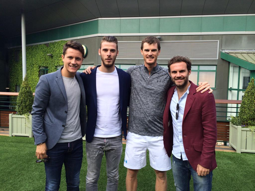 With @ManUtd smartly dressed Spanish Armada at #wimbledon @AnderHerrera @juanmata8 @D_DeGea hope you guys had fun! http://t.co/4zqpn1MB0T