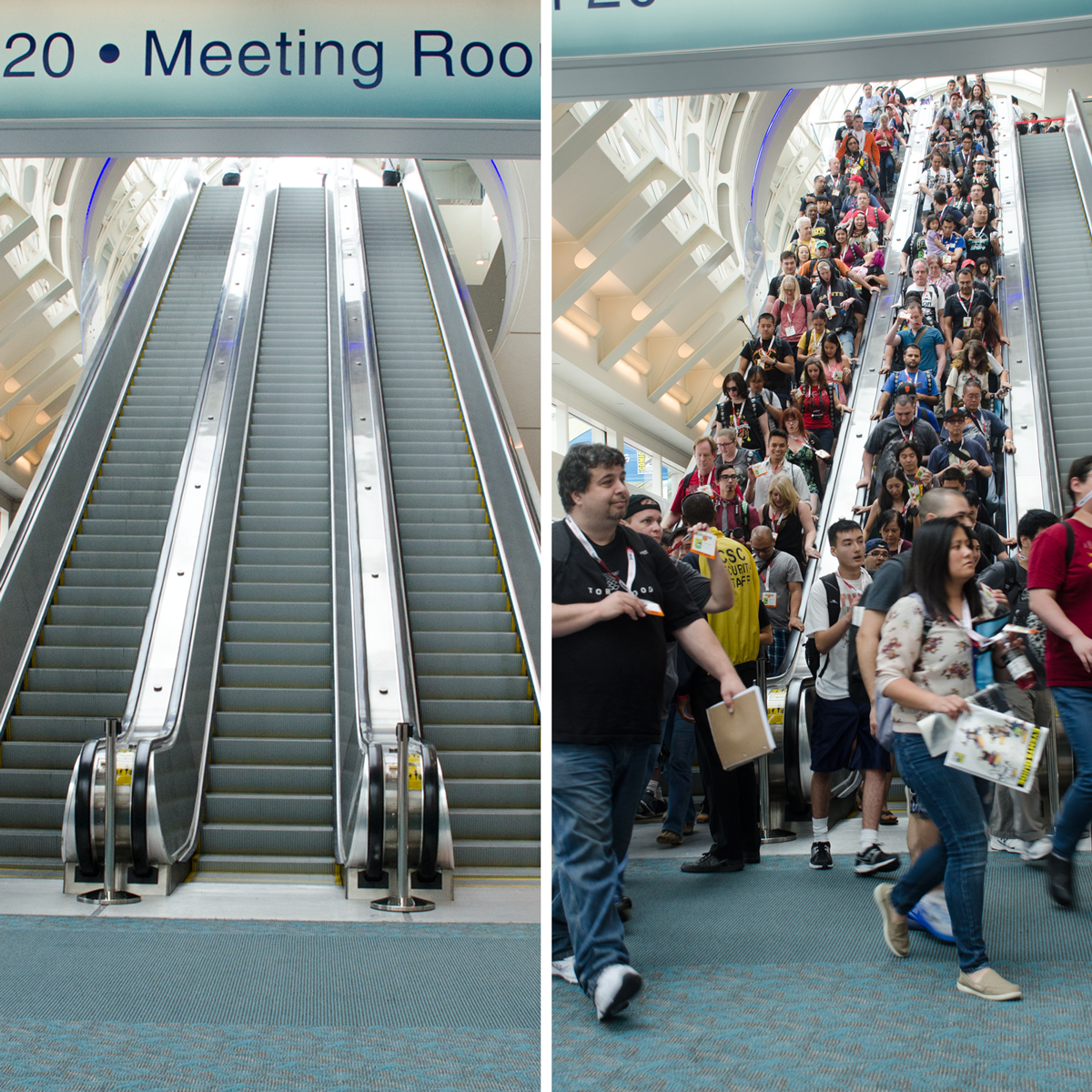 Before… and after the doors opened for @Comic_Con #PreviewNight. #SDCC2015 #SDCC http://t.co/XL15hVUKbo