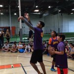 RT @LakersCommunity: Look who stopped by Camp Lakers 2015 for some shooting games with our campers... @Dloading