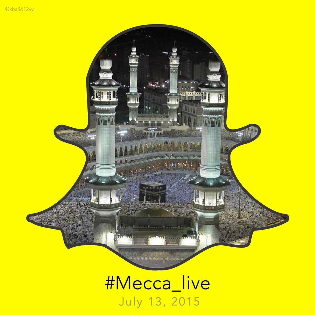 بدأ المغردون بالتسويق لـ #Mecca_Live  من الآن لليلة ٢٧ في مكة كأسلوب ضغط إعلامي على سناب شات   مرفق التصميم @snapchat http://t.co/2FOX7hsbP0