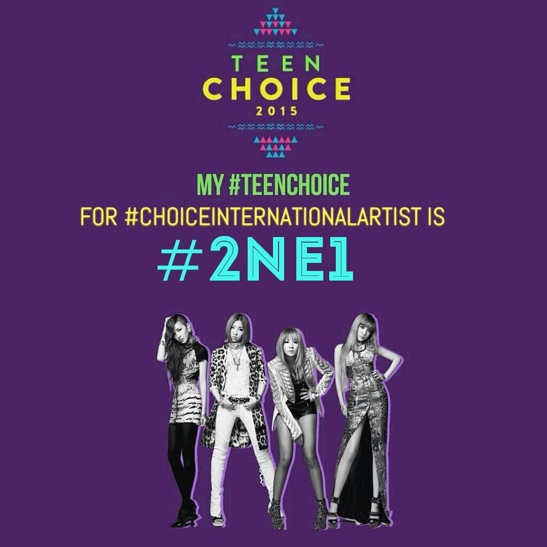 My #TeenChoice for #ChoiceInternationalArtist is #2NE1! http://t.co/gzt1BZrcmW
