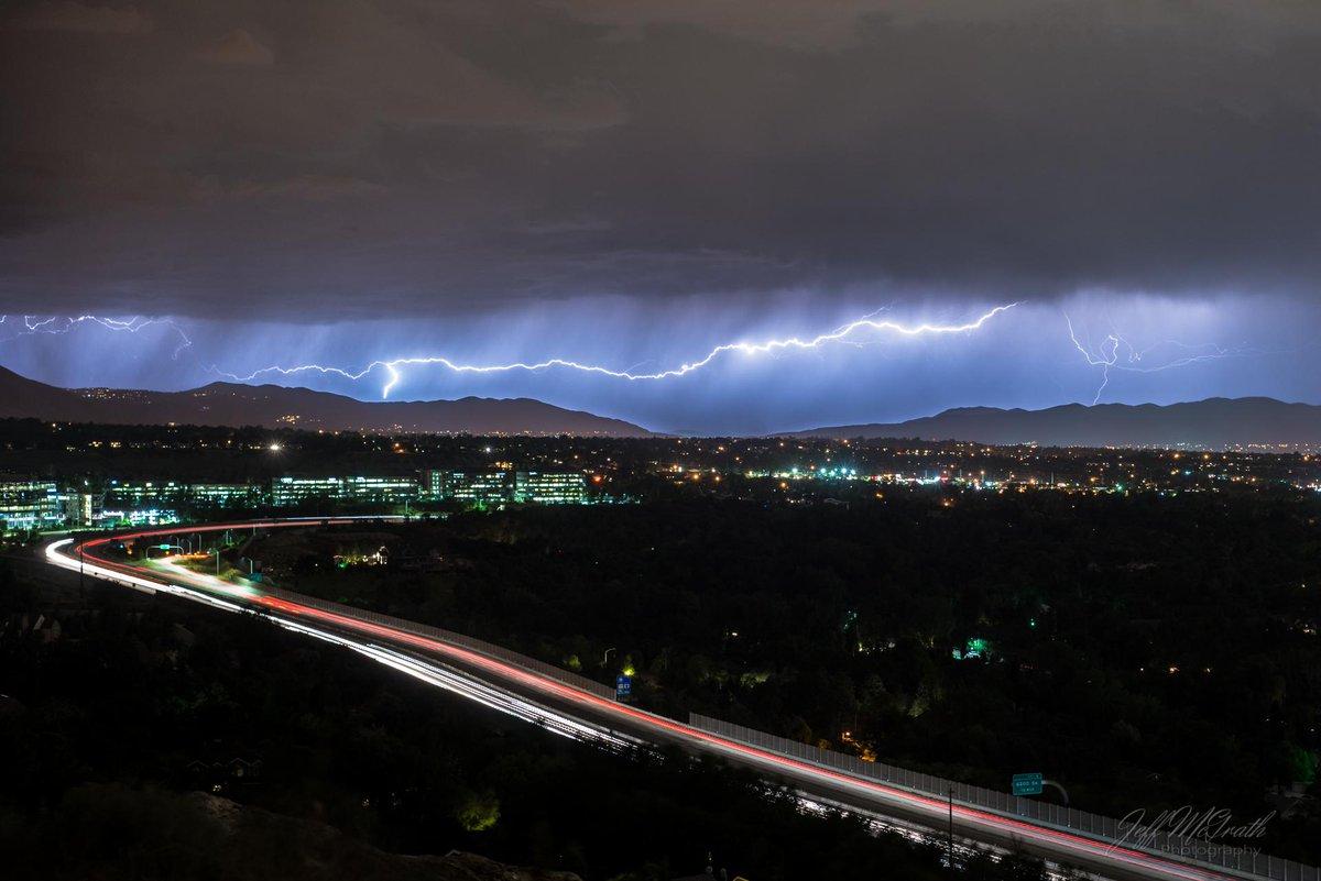#Lightning #photo from tonight's crazy #WX storm. #UTWX http://t.co/jdPecj8lmJ