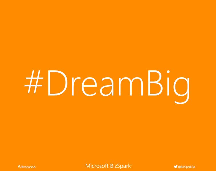 We are launching our @BizSparkSA #dreambig campaign this morning. A few months of hard work http://t.co/UpnfAo7HhO