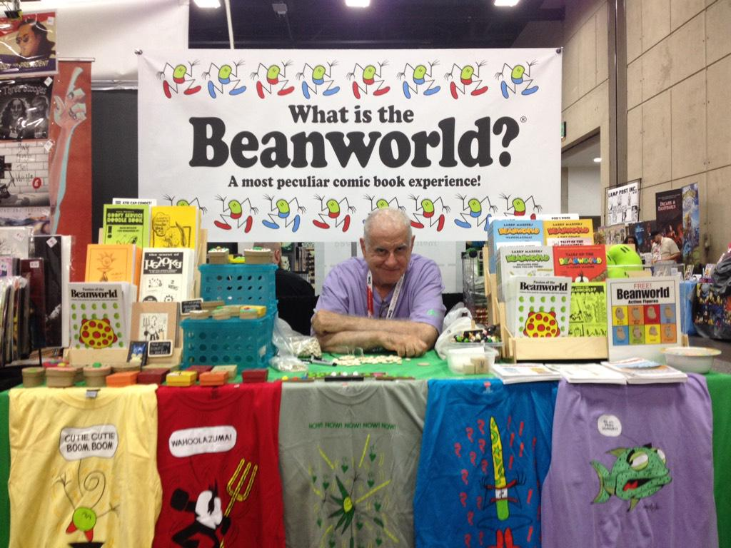 "30 years of #Beanworld & the only answer I have? ""It's easier to read than it is to explain."" #sdcc2015 http://t.co/ncrlR7IPvi"