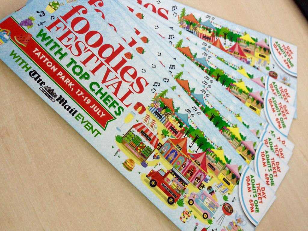 For your chance to #WIN tickets to @foodiesfestival @tatton_park 17th - 19th July - just follow us & RT
