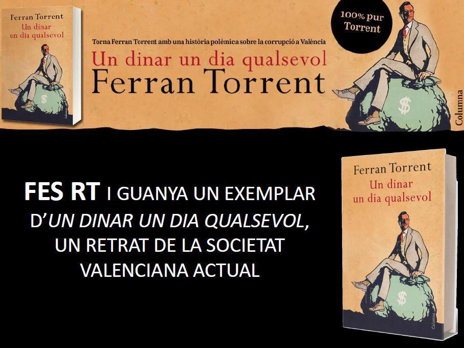 Canvis en la Generalitat valenciana, descobreix la novel·la de ficció de @ferrantorrentll. Només has de fer RT! http://t.co/TmHUmQBuT3
