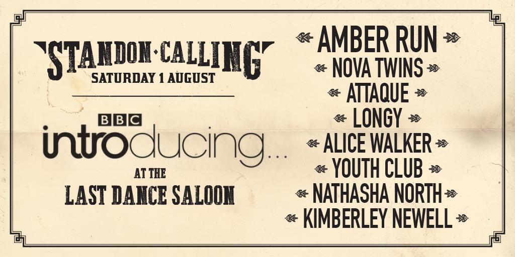 Here it is! BBC INTRODUCING LINEUP ANNOUNCED for #StandonCalling   @AmberRunUK @NovaTwinsMusic @attaquemusic + more http://t.co/sUiGflN6VA