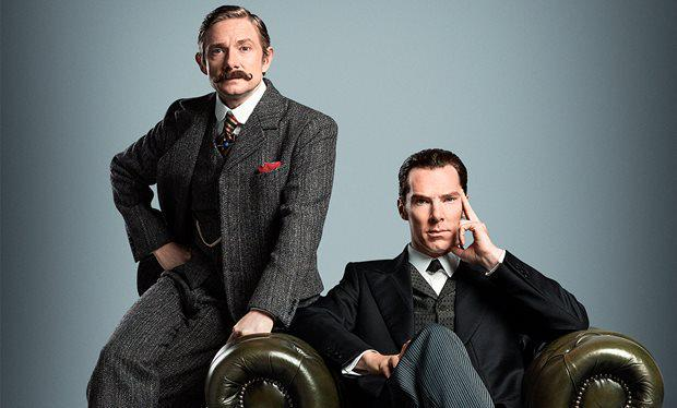 Here's your first look at Benedict Cumberbatch, Martin Freeman in Sherlock Victorian special