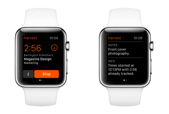 Harvest for Apple Watch is here! Track time right from your wrist. http://t.co/VHV4ShEeoT http://t.co/Xw0RzRQ4YM