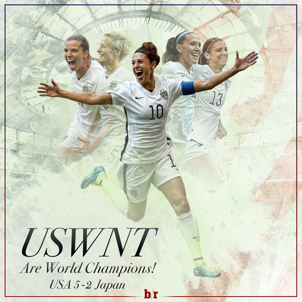 Carli Lloyd is the first person ever with a hat trick in a FIFA Women's World Cup final. #Legend (via Bleacher Report http://t.co/KJkSRI7a9k
