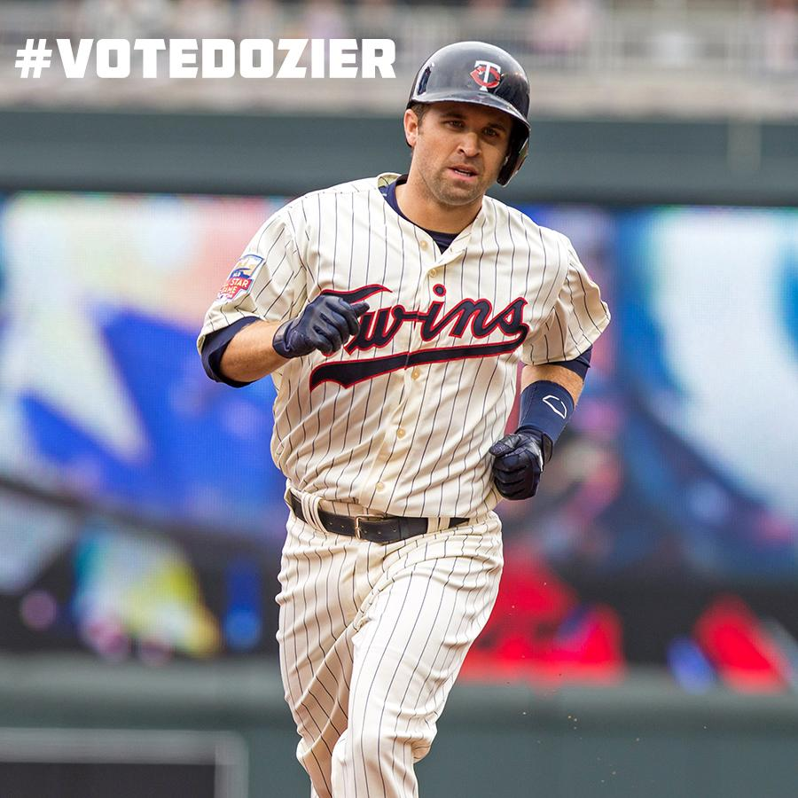 .@BrianDozier We'd love to see you hit more walk-off HRs in an #ASG American League jersey! #VoteDozier #Twins http://t.co/ecFpBWefRO