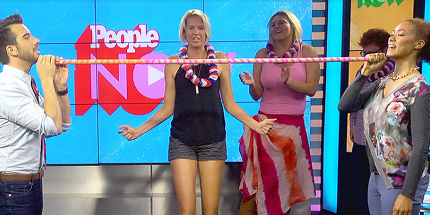 Super tall stars of @TLC's MyGiantLife play a hilarious game of limbo