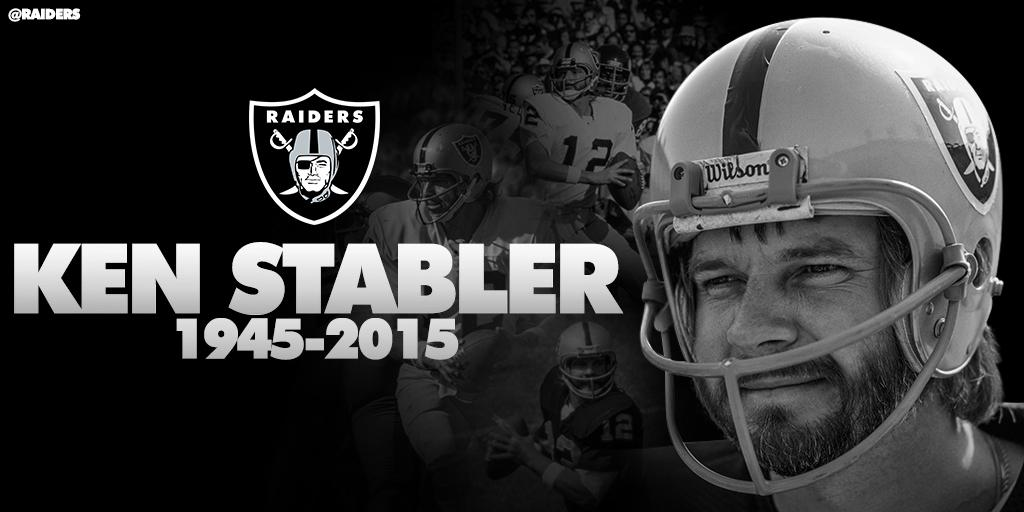 RT @RAIDERS: Statements on the passing of Ken Stabler: