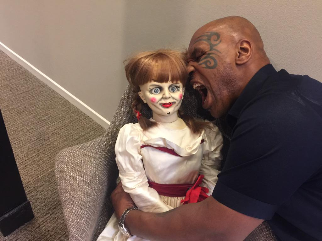 Mike Tyson (@MikeTyson): #annabelle isn't that scary http://t.co/afGE0h1ulh