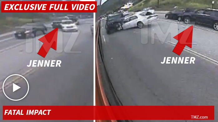 Bruce Jenner Fatal Crash -- First Bus Surveillance Video