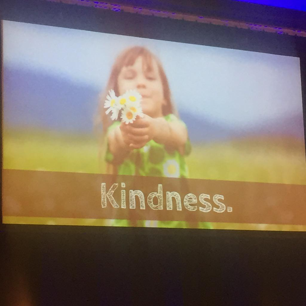 Kindness is the secret! So true