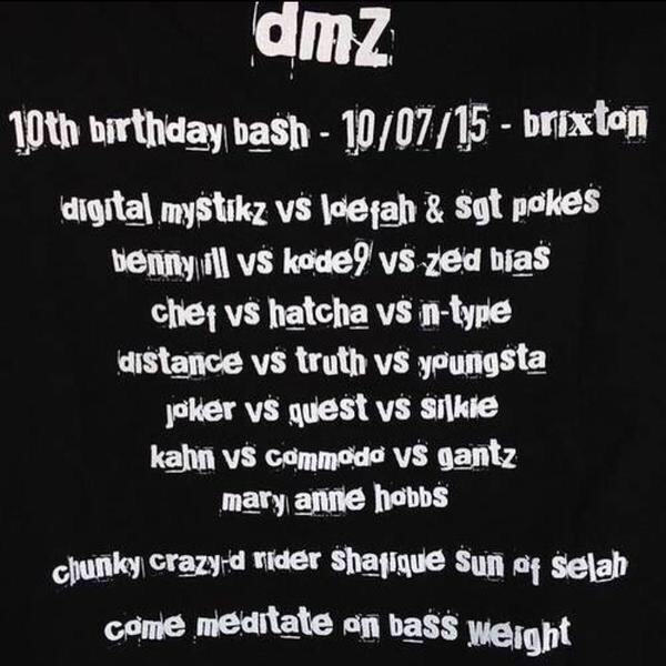 IMPORTANT ANNOUNCEMENT. #DMZisTEN - TIX ARE SOLD OUT. GUEST LIST CLOSED. WE ARE AT FULL CAPACITY. NO EXCEPTIONS. 1❤️ http://t.co/i0HuSFsGJR