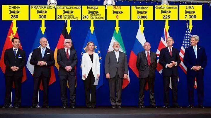 Iran with 0 nuclear heads negotiating with countries that have all together 16335 nuclear heads via @AliAraghchi http://t.co/AX8dpK3VAa