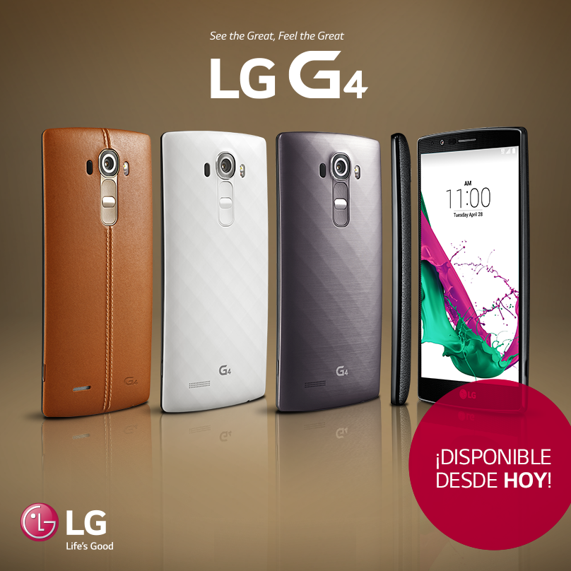¡#LGG4 disponible desde hoy en tu operador favorito! http://t.co/Wv9KiY45Io