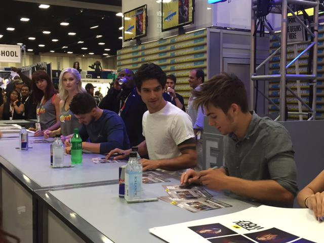 Join @TylerPosey & @DSprayberry at Fox #Booth4229 for the #TeenWolf signing happening RIGHT NOW! #SDCC http://t.co/Ryb8C31dEB