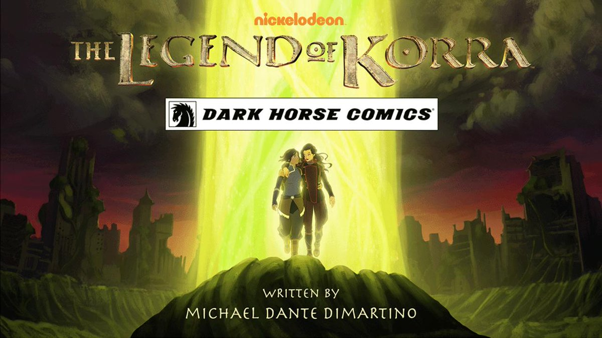 .@DarkHorseComics reveals #Korra graphic novel series, which will expand on Korrasami! http://t.co/q1y6bNRcrW #SDCC http://t.co/OJx2510Epc
