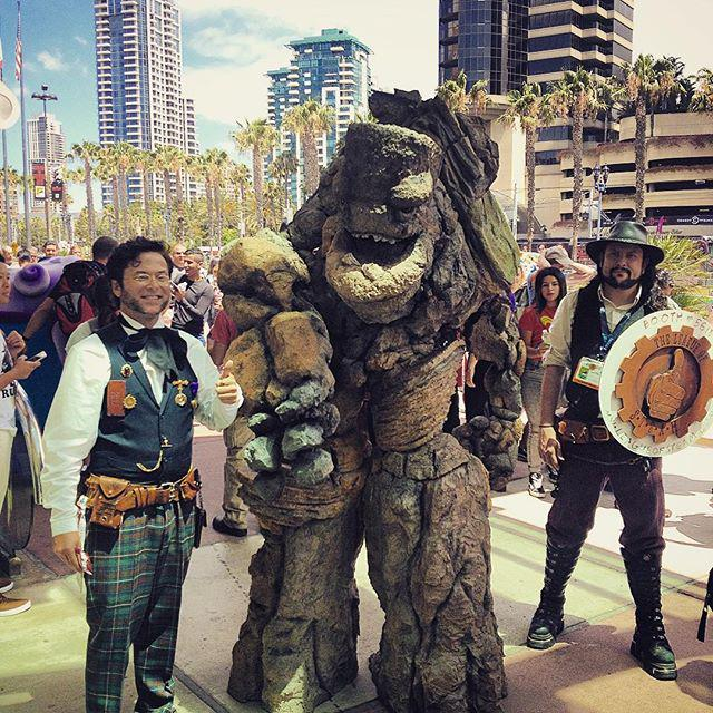 Our Rock Monster is running amok at #SDCC! #steampunk #monster #comiccon #cosplay #webseri… http://t.co/taOuvZZa95 http://t.co/r8GcnfGFqV
