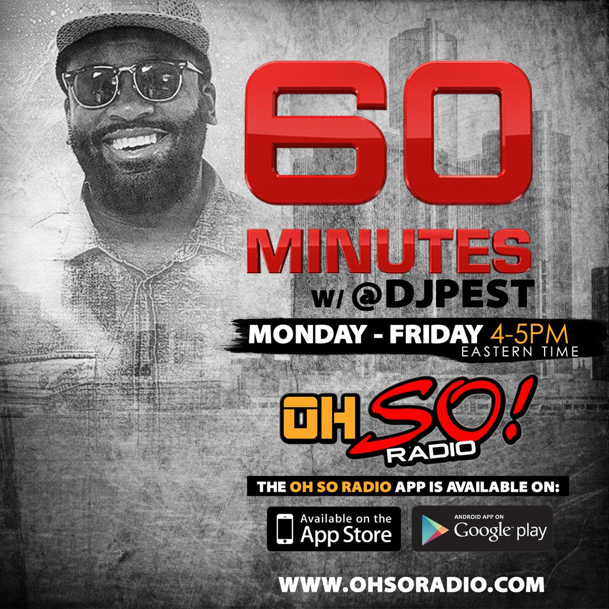 """Im playin that new @NeishaNeshae """"On A Cloud"""" on my #60Minutes show today. Tune in on  @TheOhSoRadio app at 4PM. http://t.co/S9PFj2IOIz"""