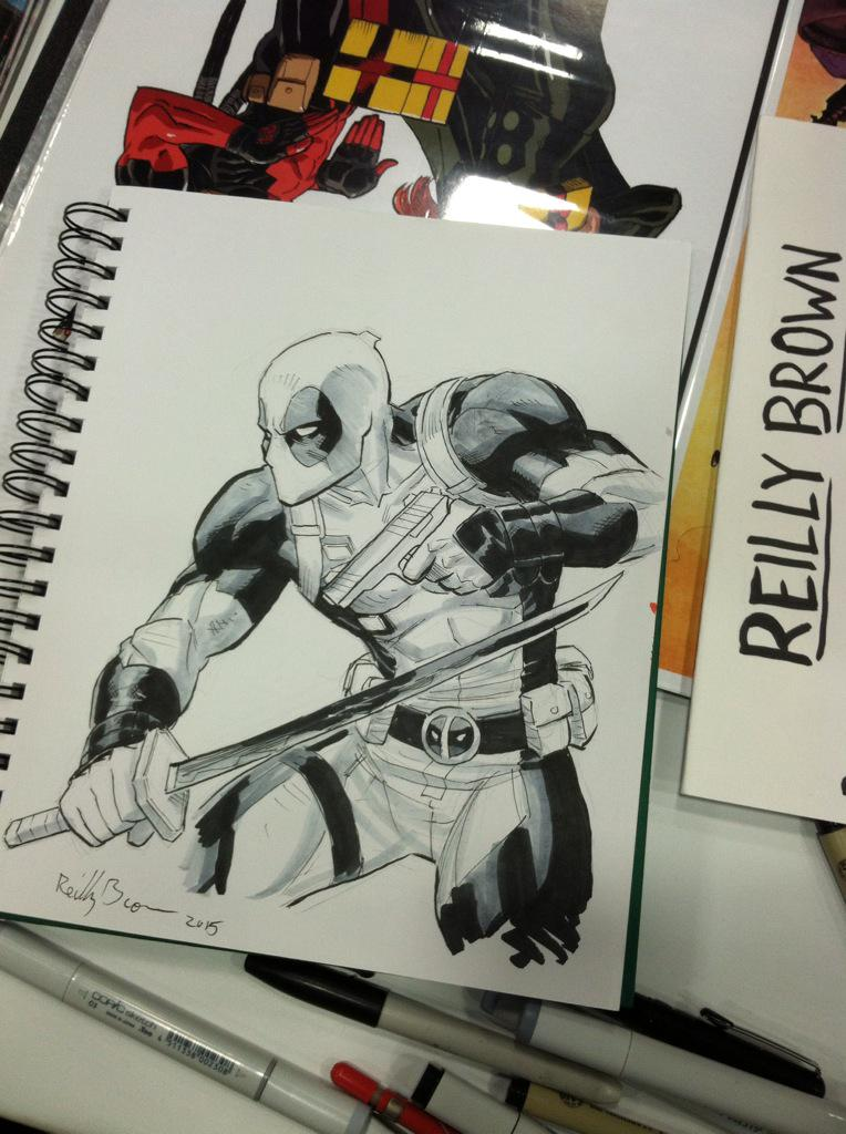 Guess who drew a Deadpool piece? #sdcc http://t.co/zozrmbk0aj