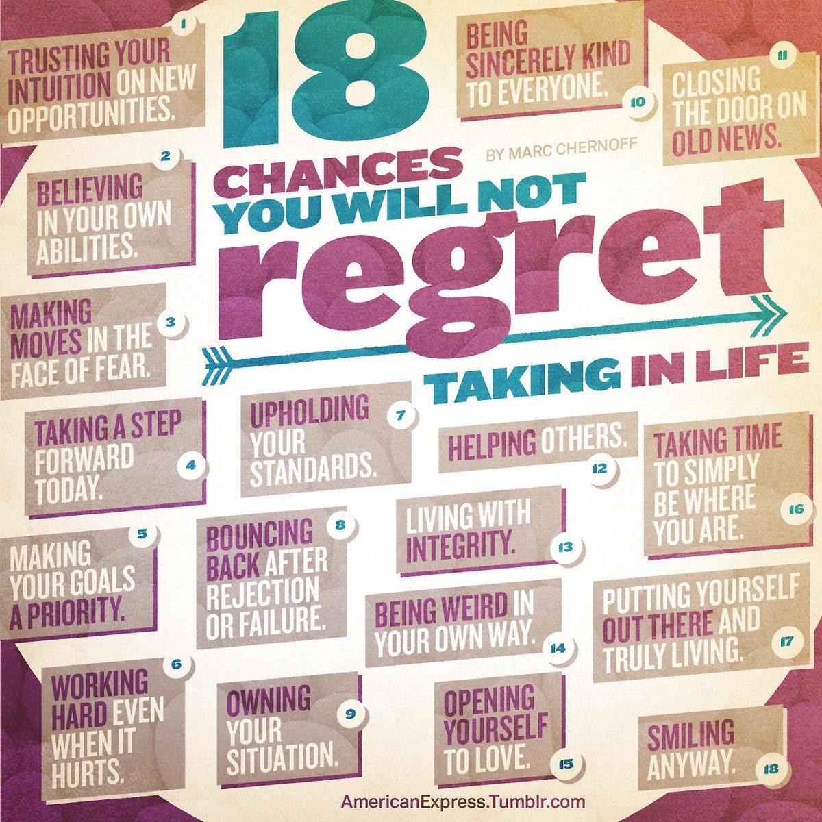 18 Chances You Will Not Regret Taking in Life: http://t.co/U2U76f0avD http://t.co/qLaJWhMYqM