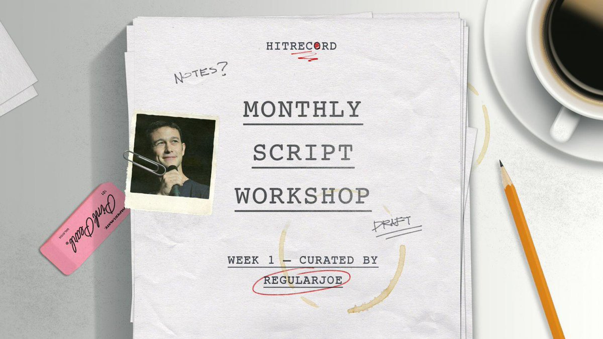 RT @hitRECord: We're excited to announce our newest ongoing collab -- The #MonthlyScriptWorkshop! Info here: http://t.co/7cMcccd7dm http://…
