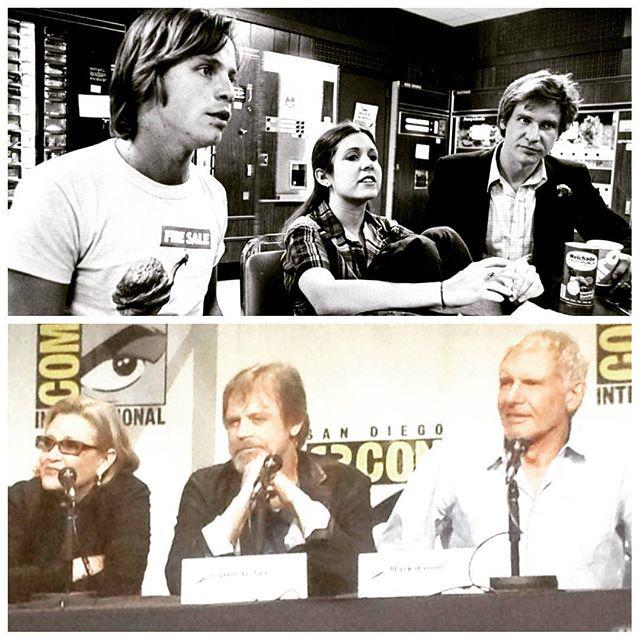 That was then...this is now. #StarWars #SDCC http://t.co/To5CkNEH5r http://t.co/kwUk2U7ggu