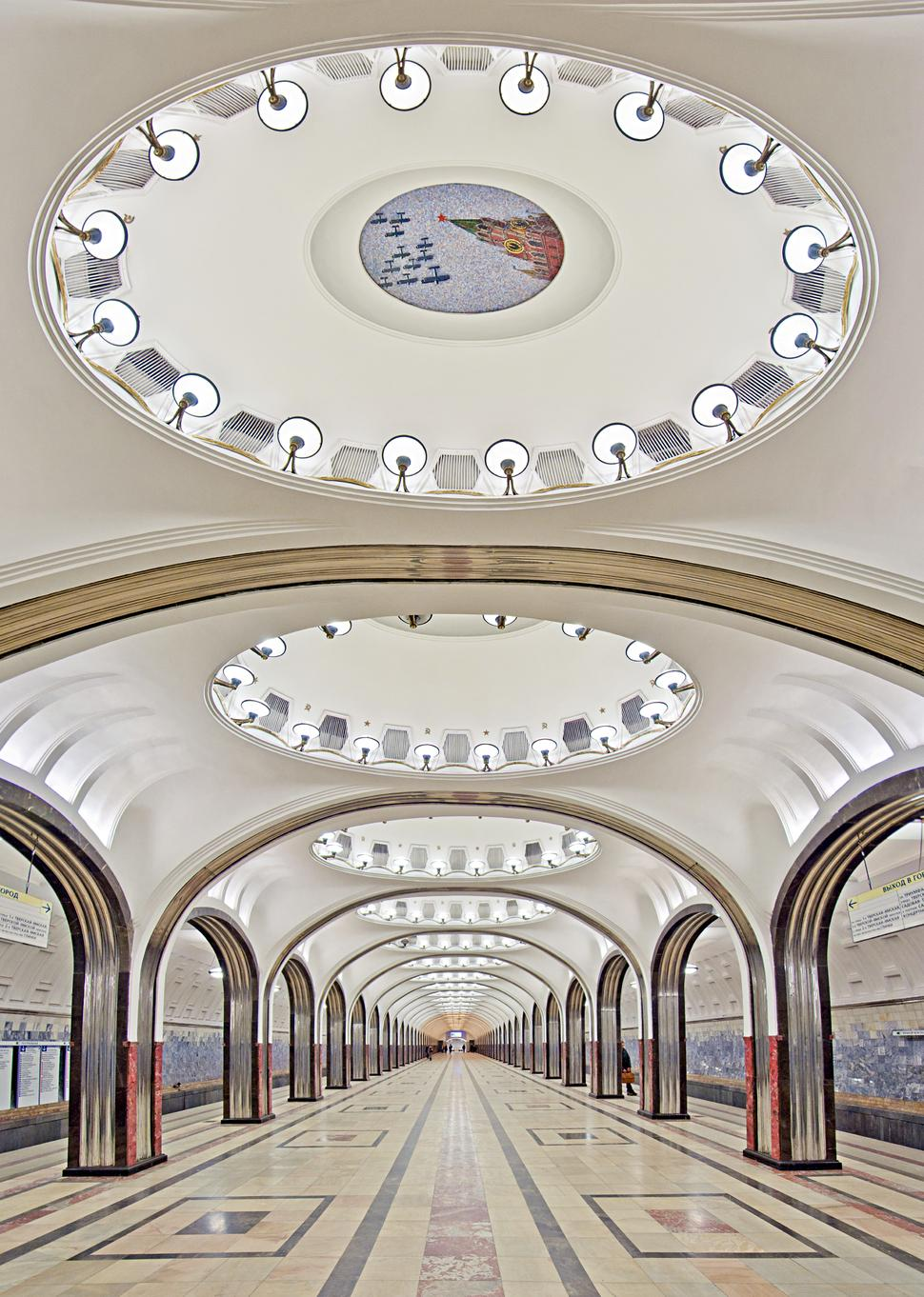 Mayakovskaya Station, built in 1939. http://t.co/xcf5wwTwGu