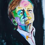 CORRECTION-ah RT @serafinowicz: For my birthday, my mum @twittterknitter painted this portrait of Mark E Smith. http://t.co/AfhPLwY2CK