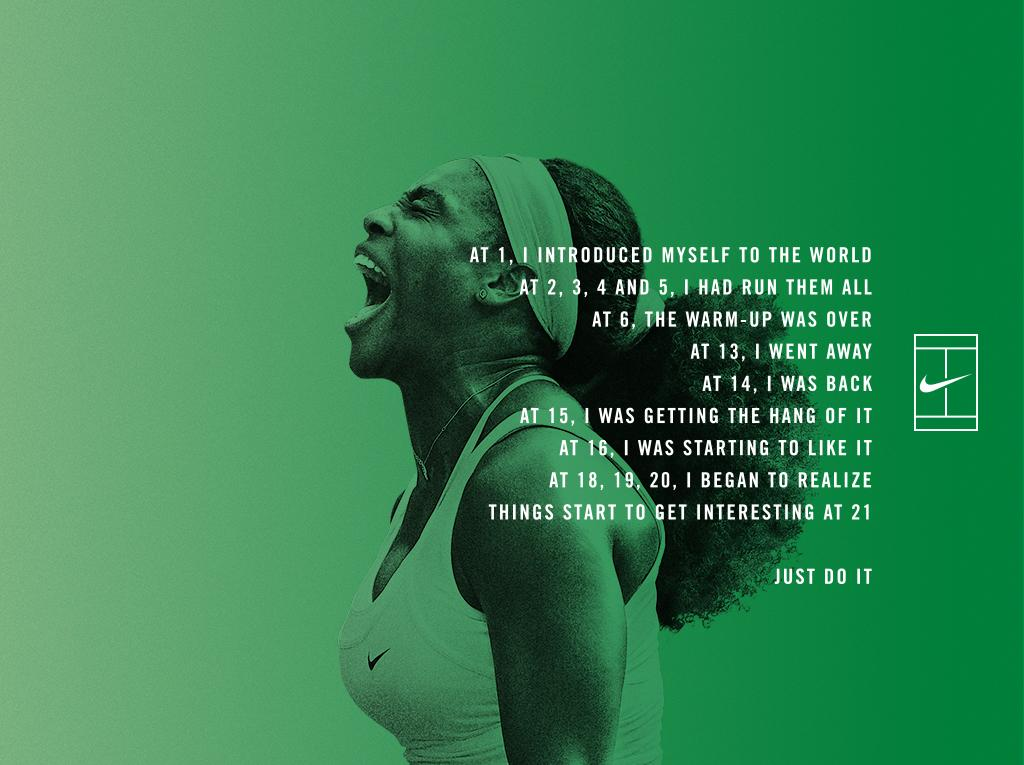 Things start to get interesting at 21. @serenawilliams #nikecourt http://t.co/fK8f2C86UL