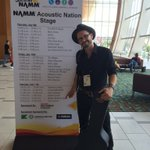 Hey all you #NAMM-ers! I'm throwin' down on the acoustic nation stage at 3. Come have a listen! http://t.co/MJMTDiSMOX