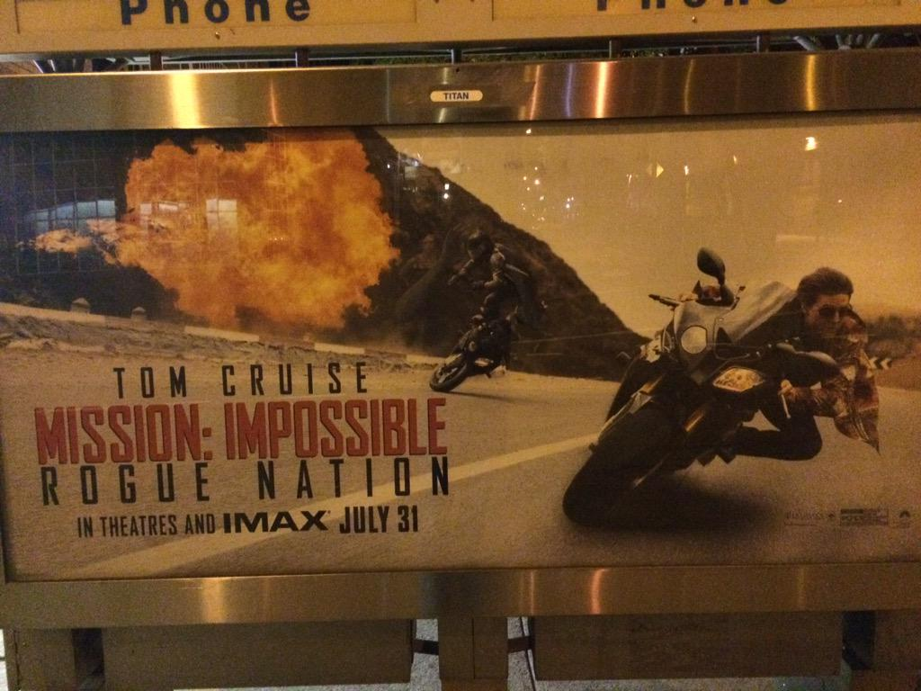 Apparently the latest villain in the new Mission Impossible film is a giant spicy tuna hand roll! http://t.co/j18cx68DD6