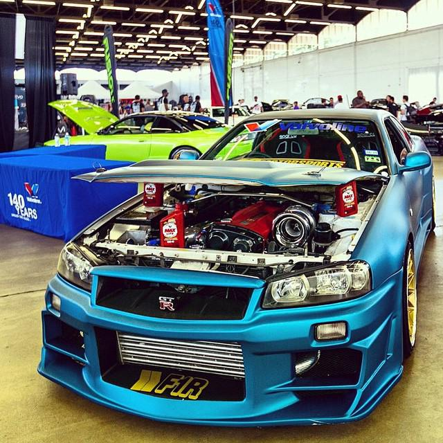 Nice way to support the hood of a Nissan Skyline! #MaxLife #hotimportnights #valvolineHIN http://t.co/BXTV8qkKQ3