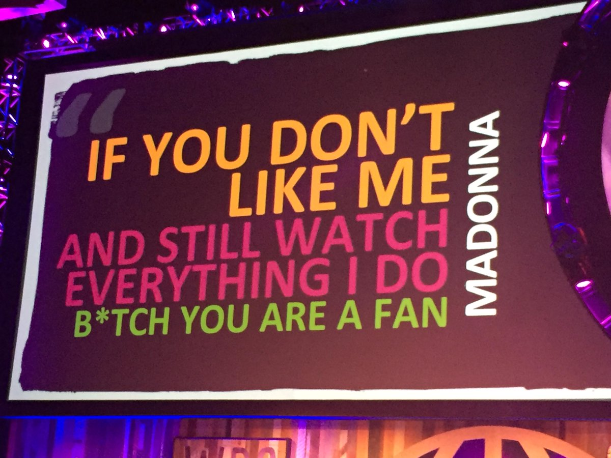 Best conference slide EVER. @thefoodbabe @madonna #WDS2015 http://t.co/8tjppmTwCY