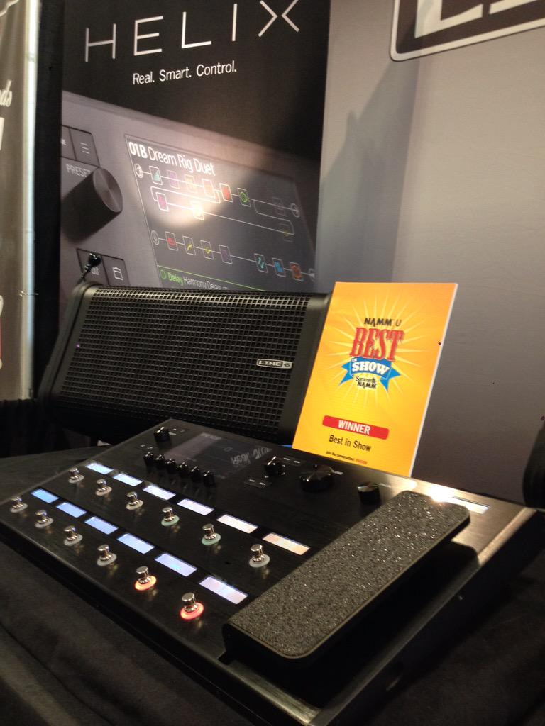 We are proud to accept a best in show award for Helix ! #helix #realsmartcontrol #line6 #bestinshow #thenammshow http://t.co/4OHMmlq53x