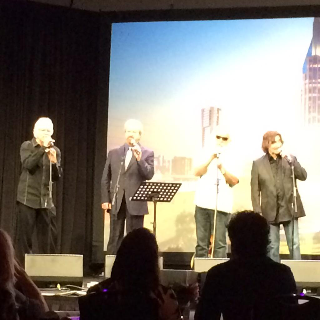 The incomparable @oakridgeboys @joebonsall @DUANEALLEN @wlgolden @RASterban at the American Eagle Awards. #NAMM http://t.co/gC4xdqfUD5