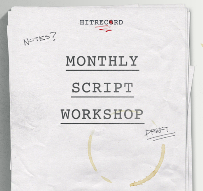 RT @hitRECord  Writers - come join us on our website as we start developing a script together: http://t.co/6b5CbrP3uU http://t.co/aWPJWBy3HA