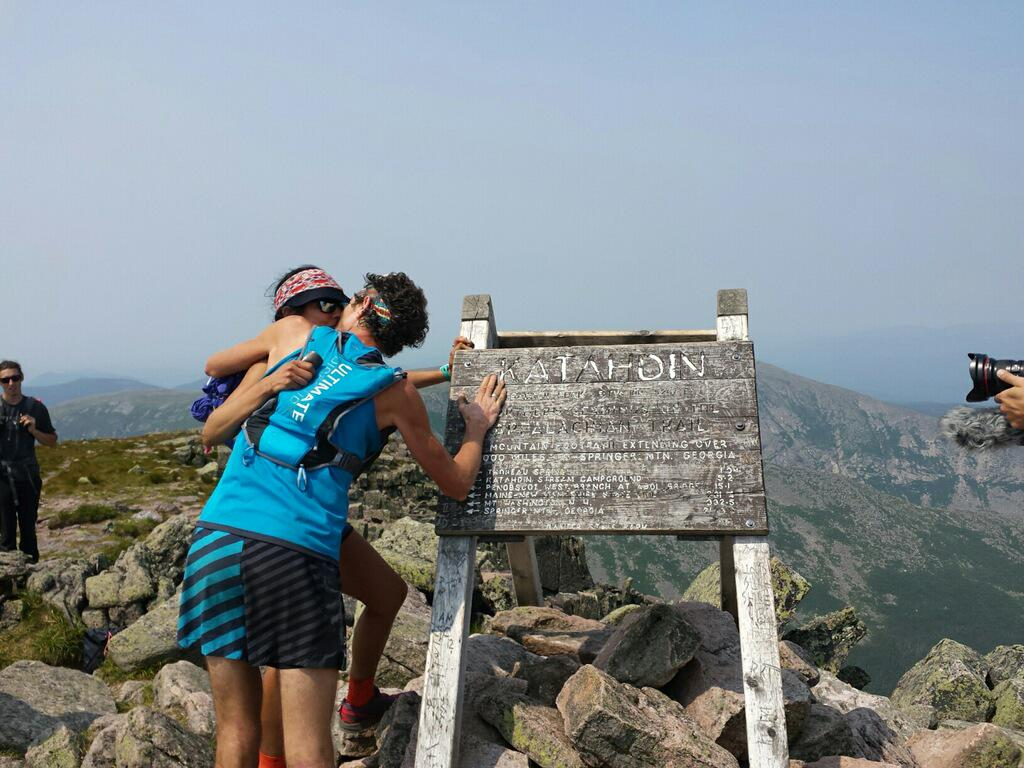 Scott Jurek breaks the Appalachian Trail Record in 46 days, 8 hs and 8 minutes. #SJAT15 http://t.co/dpgSQbonQ0